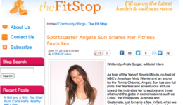 Fitness Magazine: Sportscaster Angela Sun Shares Her Fitness Favorites