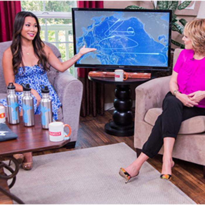Angela talks Plastic Paradise documentary on Hallmark Channel's Home & Family show
