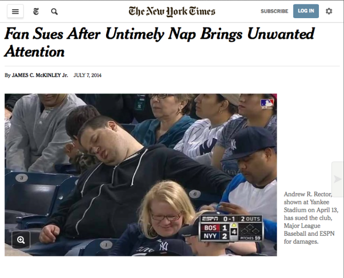 Angela cited in the NY times for the Yahoo Sports Minute